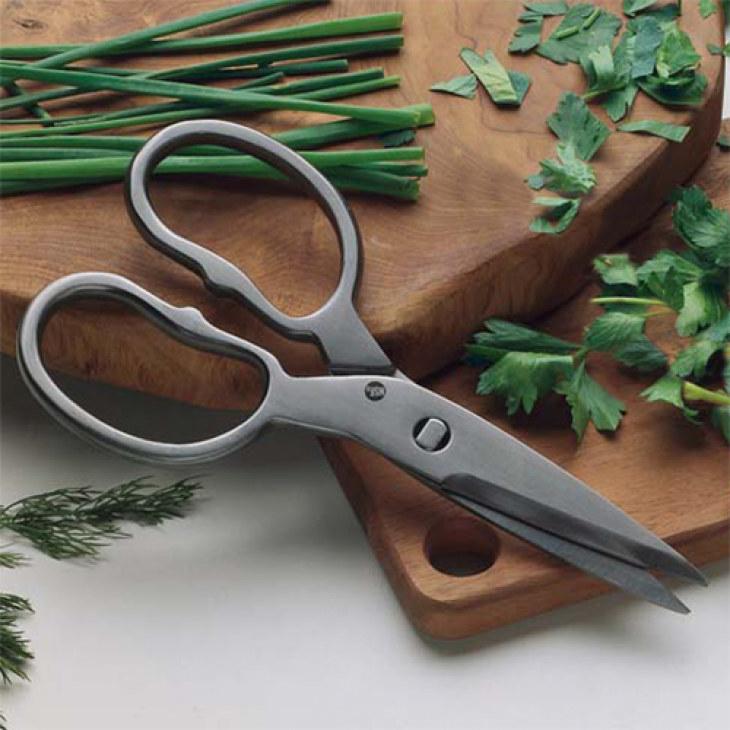 Dark colored kitchen shears