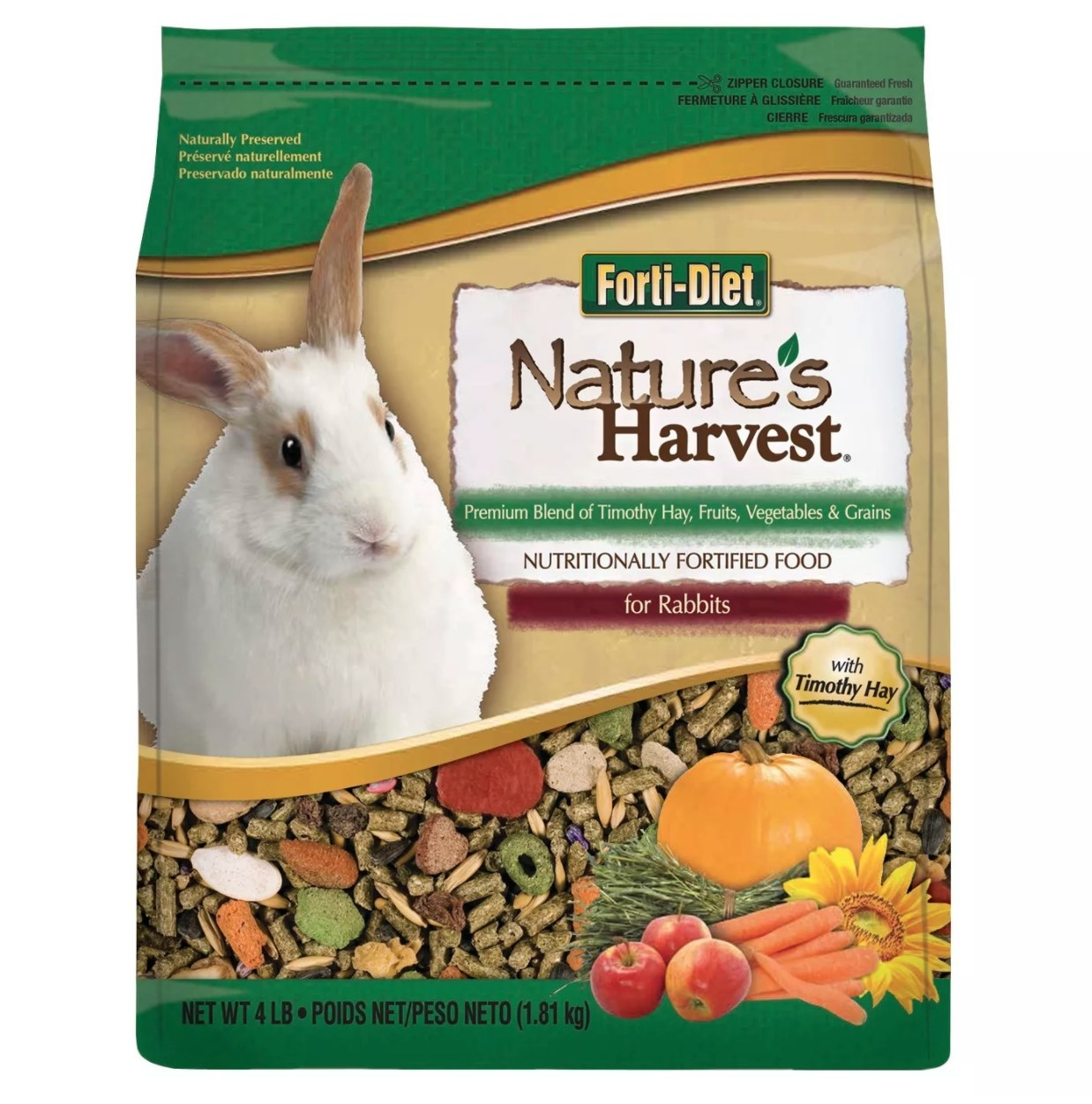A bag of the small rabbit food