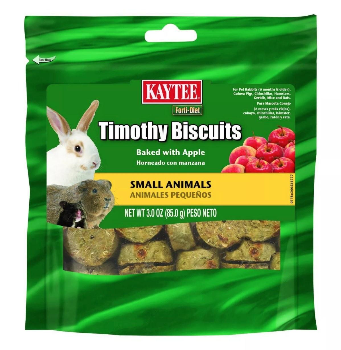 A bag of the baked apple bunny treats
