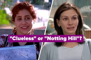 """Tai from Clueless and Anna from Notting Hill with the question """"Clueless or Notting Hill?"""""""