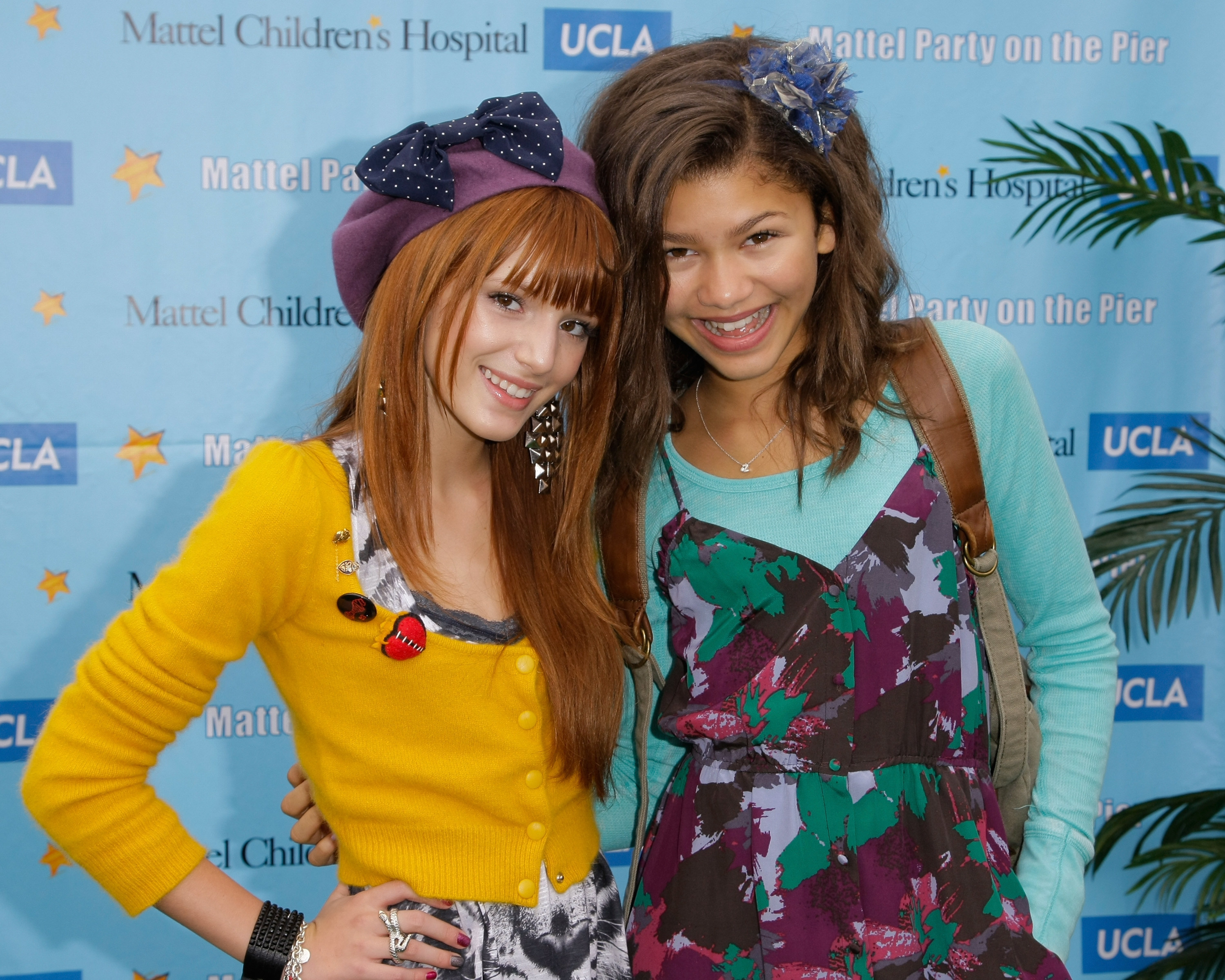 Bella Thorne (L) and Zendaya Coleman attend the 11th Annual Mattel Party