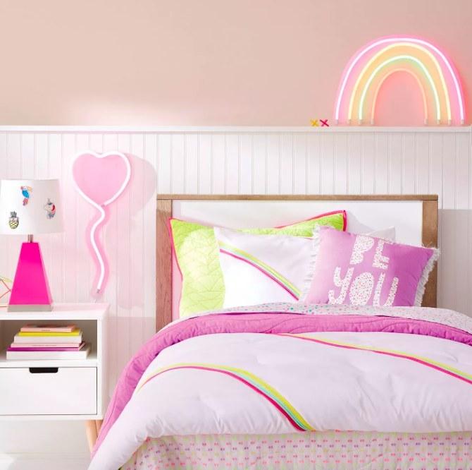 The neon rainbow light