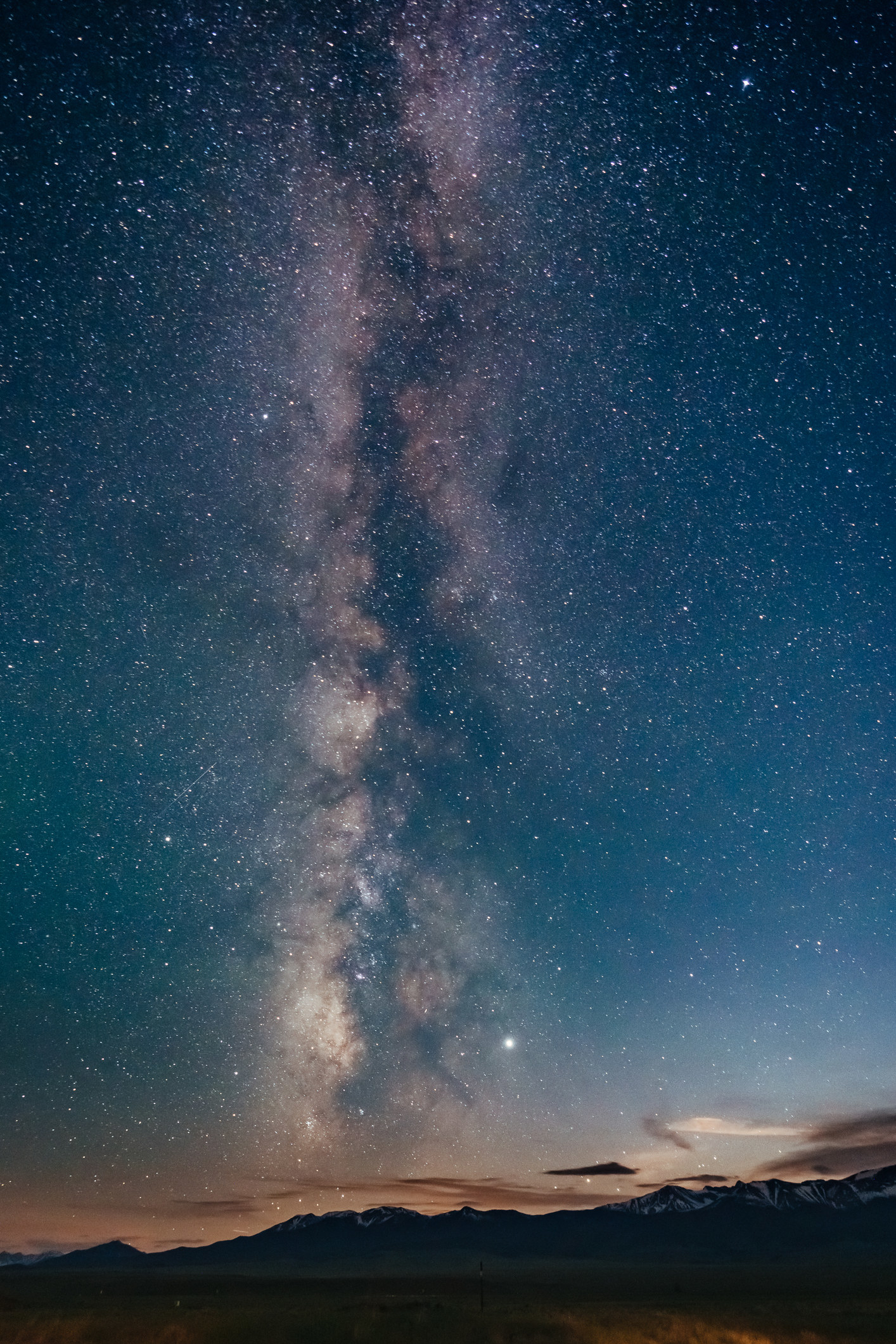 A view of the Milky Way in the Colorado Rocky Mountains.