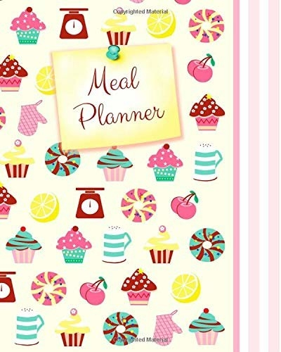 A meal planner with various sweets on it