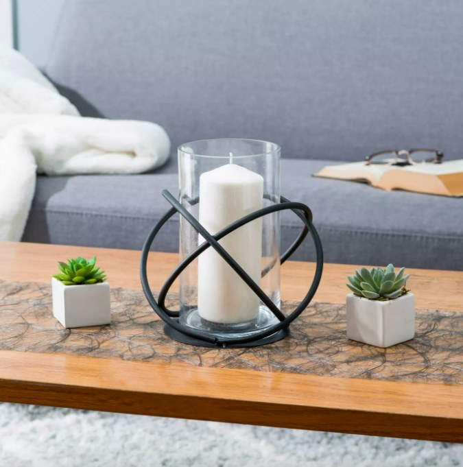 The hurricane glass candle holder