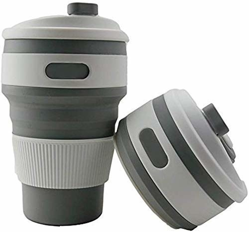 The grey mug in collapsed and uncollapsed form