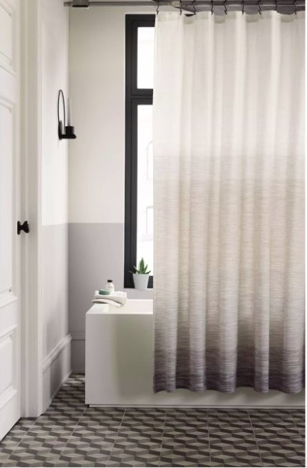 The white to gray ombre shower curtain