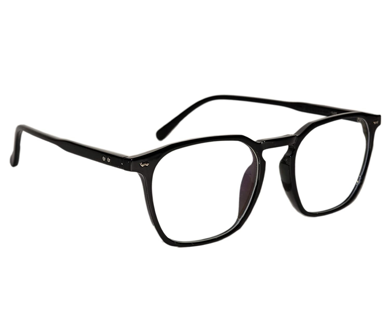 A pair of anti-glare glasses in black