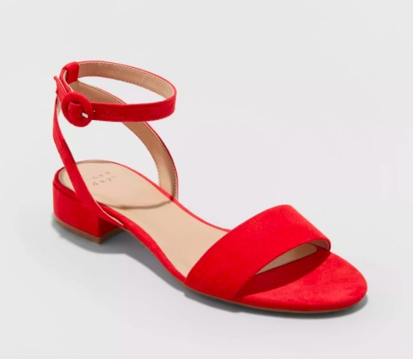 The red sandal