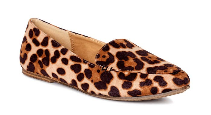 Animal print flat loafers