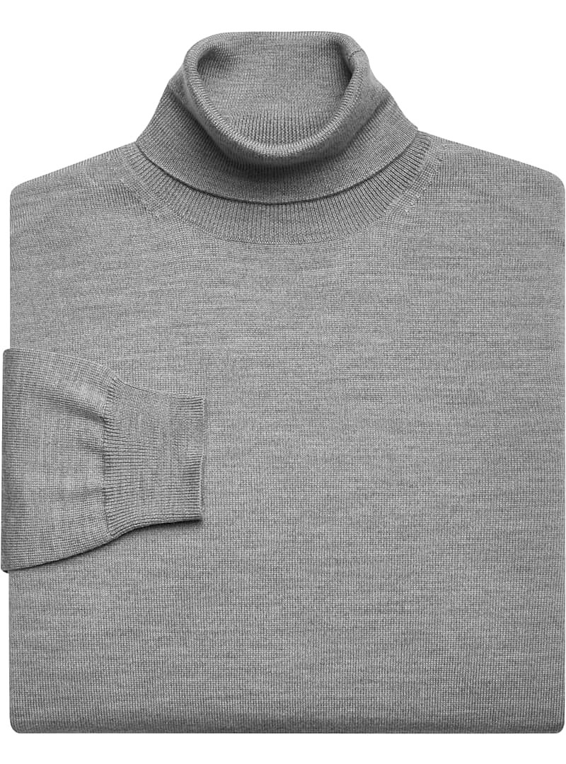 Jos. A. Bank traveler collection turtleneck sweater in grey