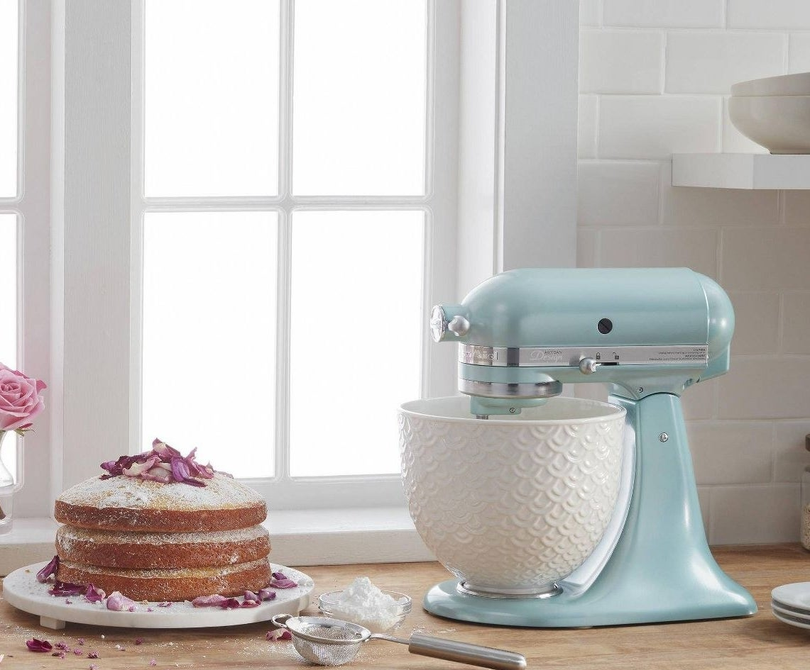 The KitchenAid in robin's egg blue