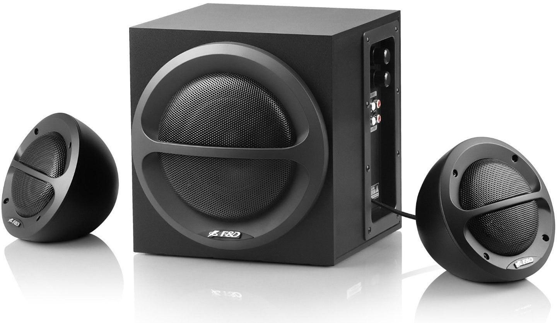 F&D A110 Speakers in black.