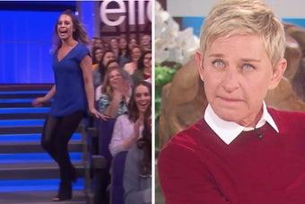 Fan told not to be funnier than Ellen