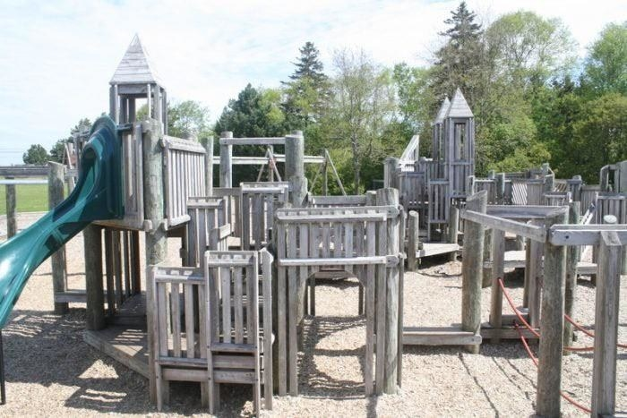 Playground made out of wood