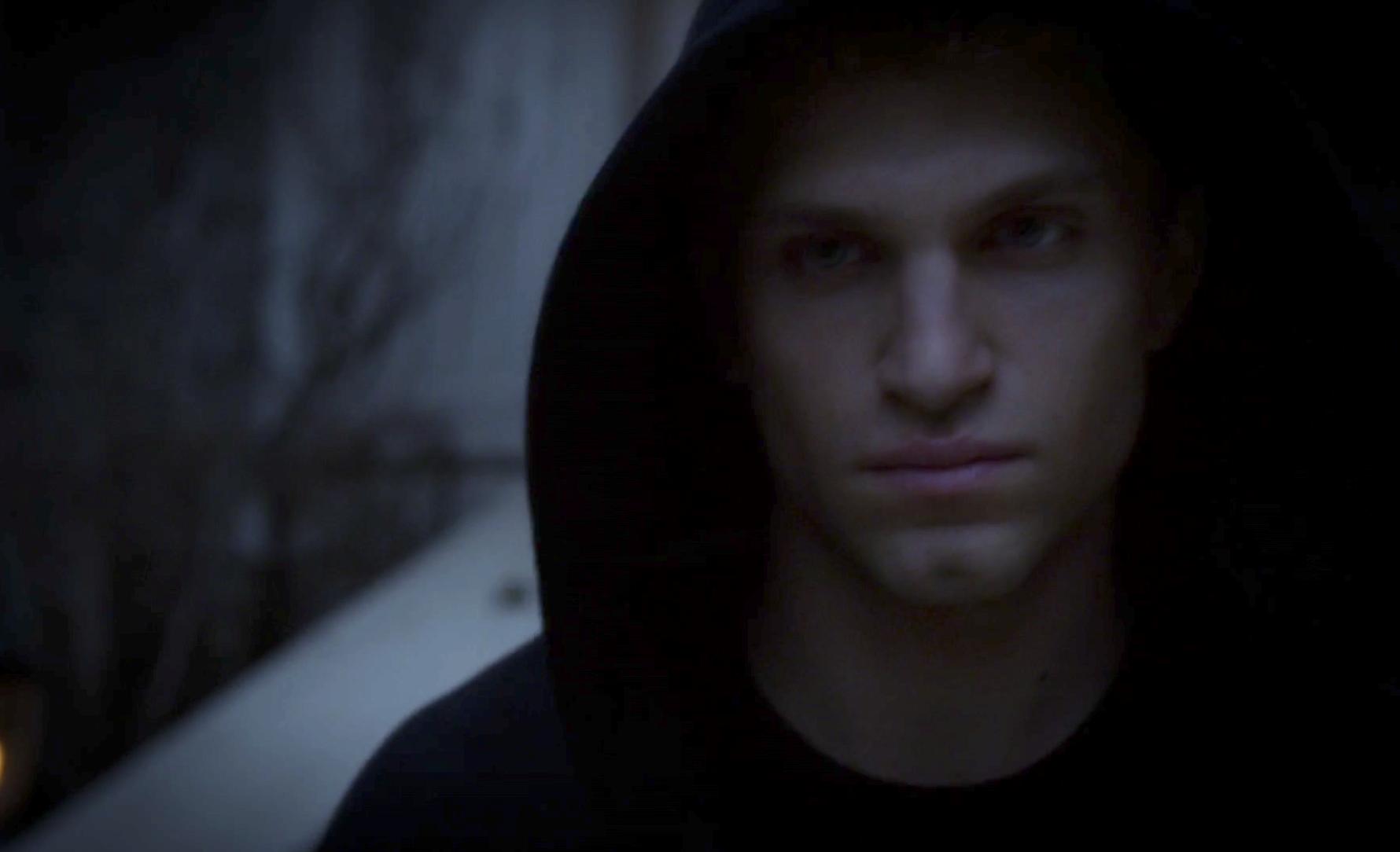 Toby in the black A hoodie