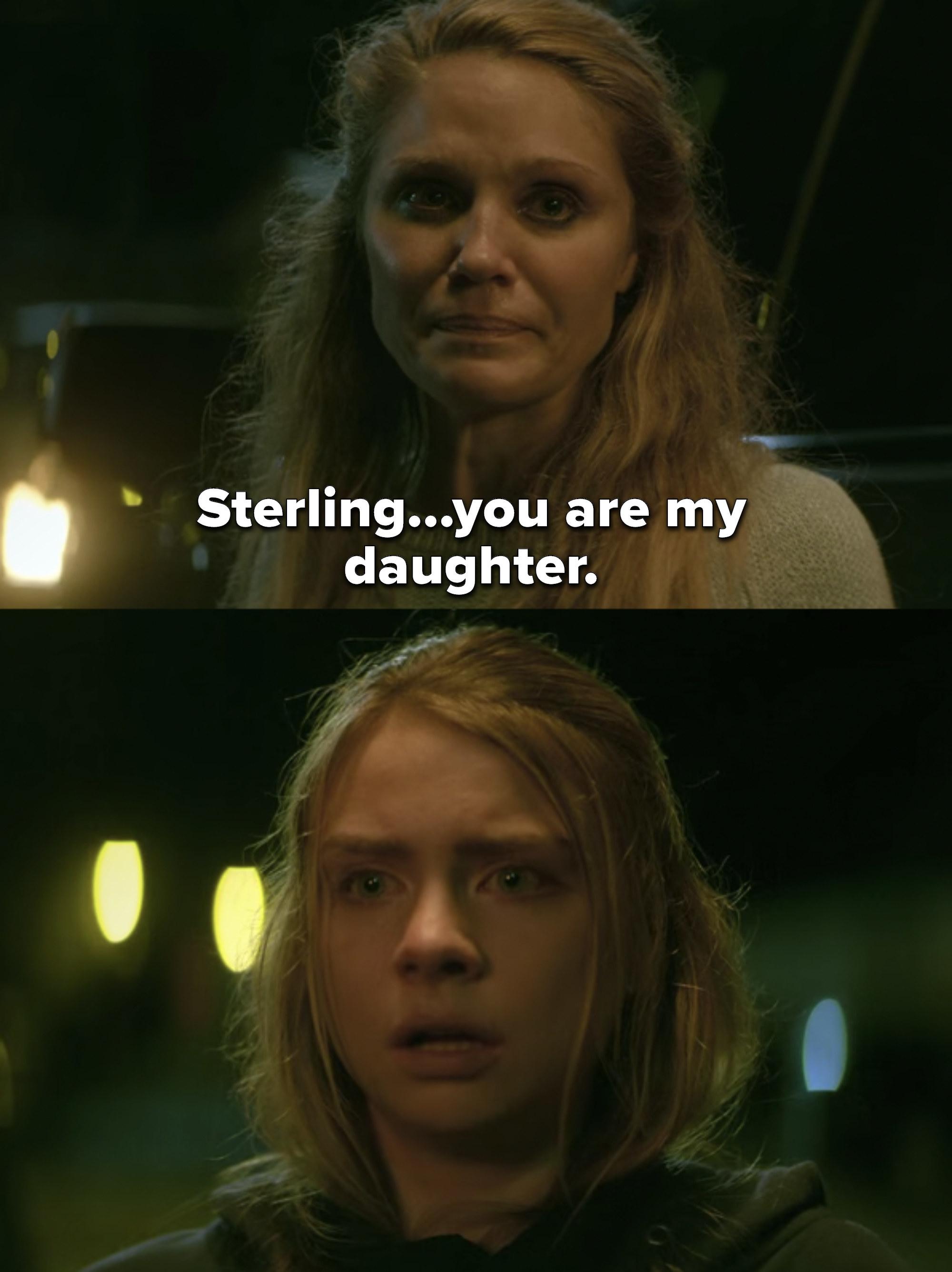 Dana tells Sterling she's her daughter