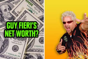 Guy Fieri wondering if you can guess his net worth