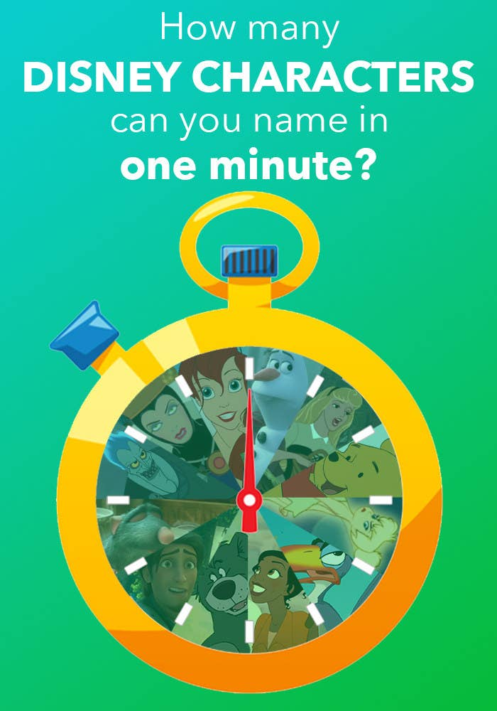 How many Disney characters can you name in one minute?