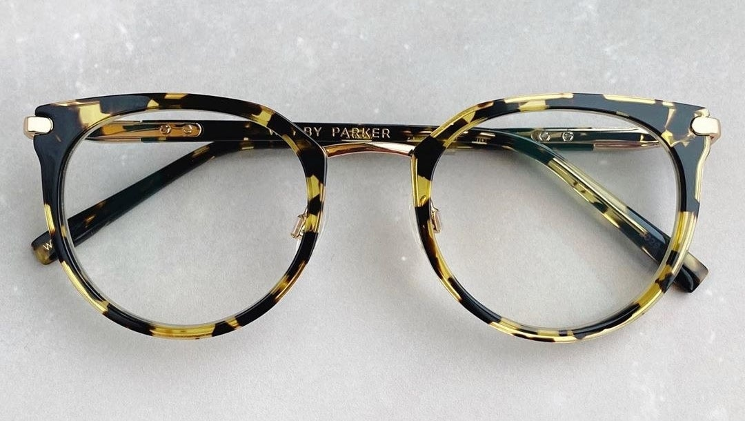 glasses with tortoiseshell frames