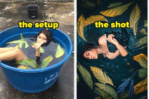 The setup vs. the shot of getting an amazing shot of someone in water
