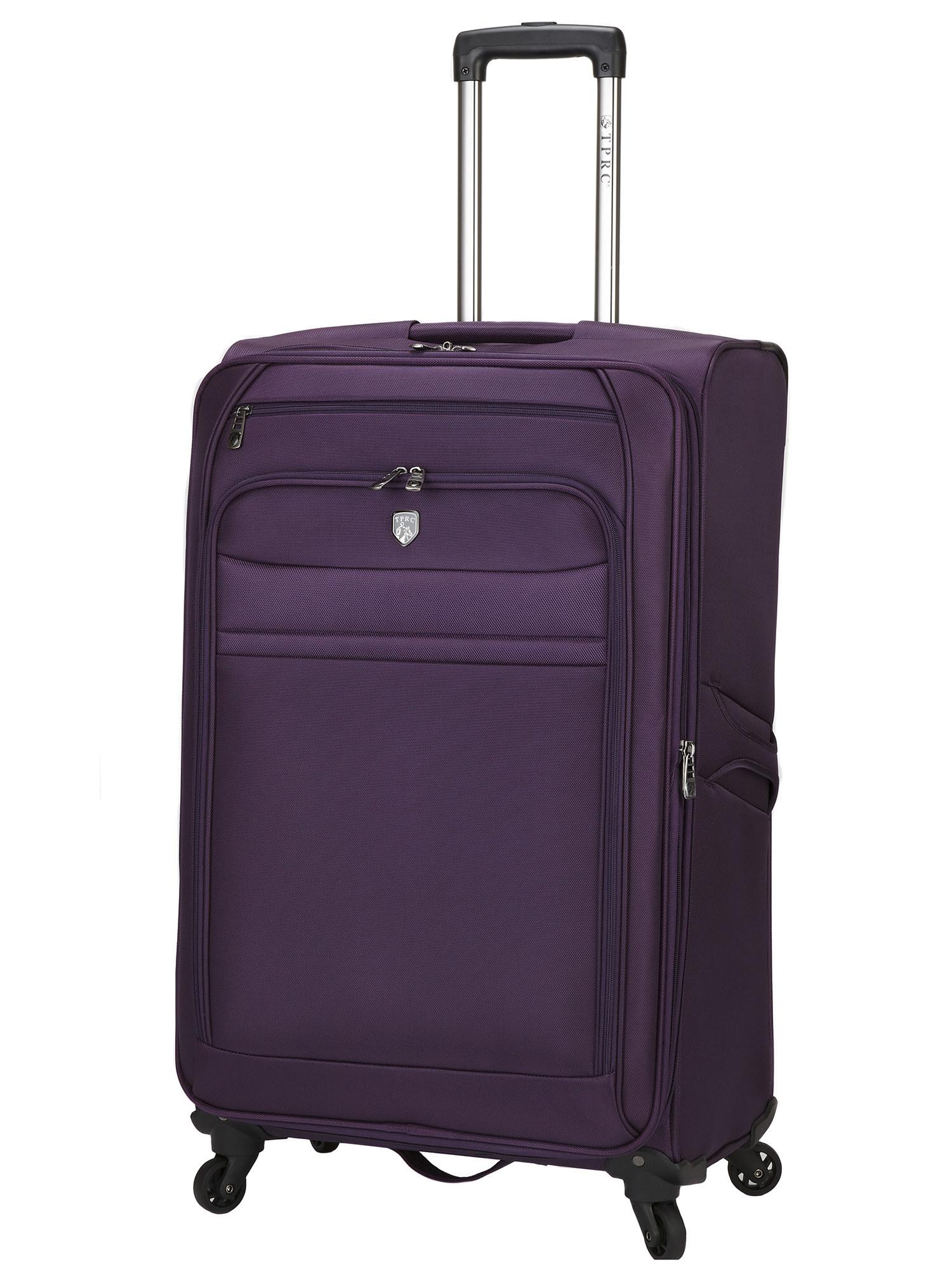 The purple wheeled suitcase