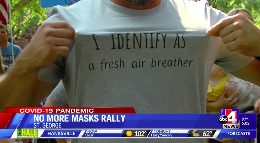 """""""I identify as a fresh air breather"""" shirt"""