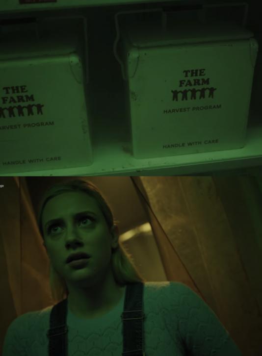 Betty sees boxes of organs hidden away in a closet
