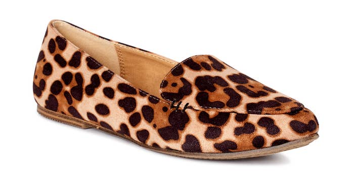 The leopard print shoe
