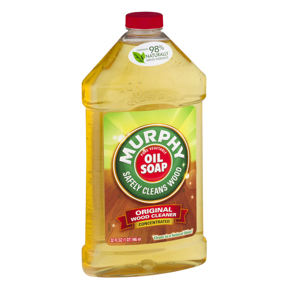 A 32-ounce bottle of concentrated Murphy Oil Soap, the original wood cleaner