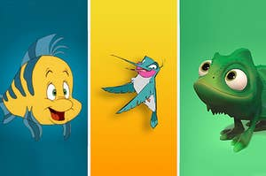Which princesses match with Flounder, Flit, and Pascal?