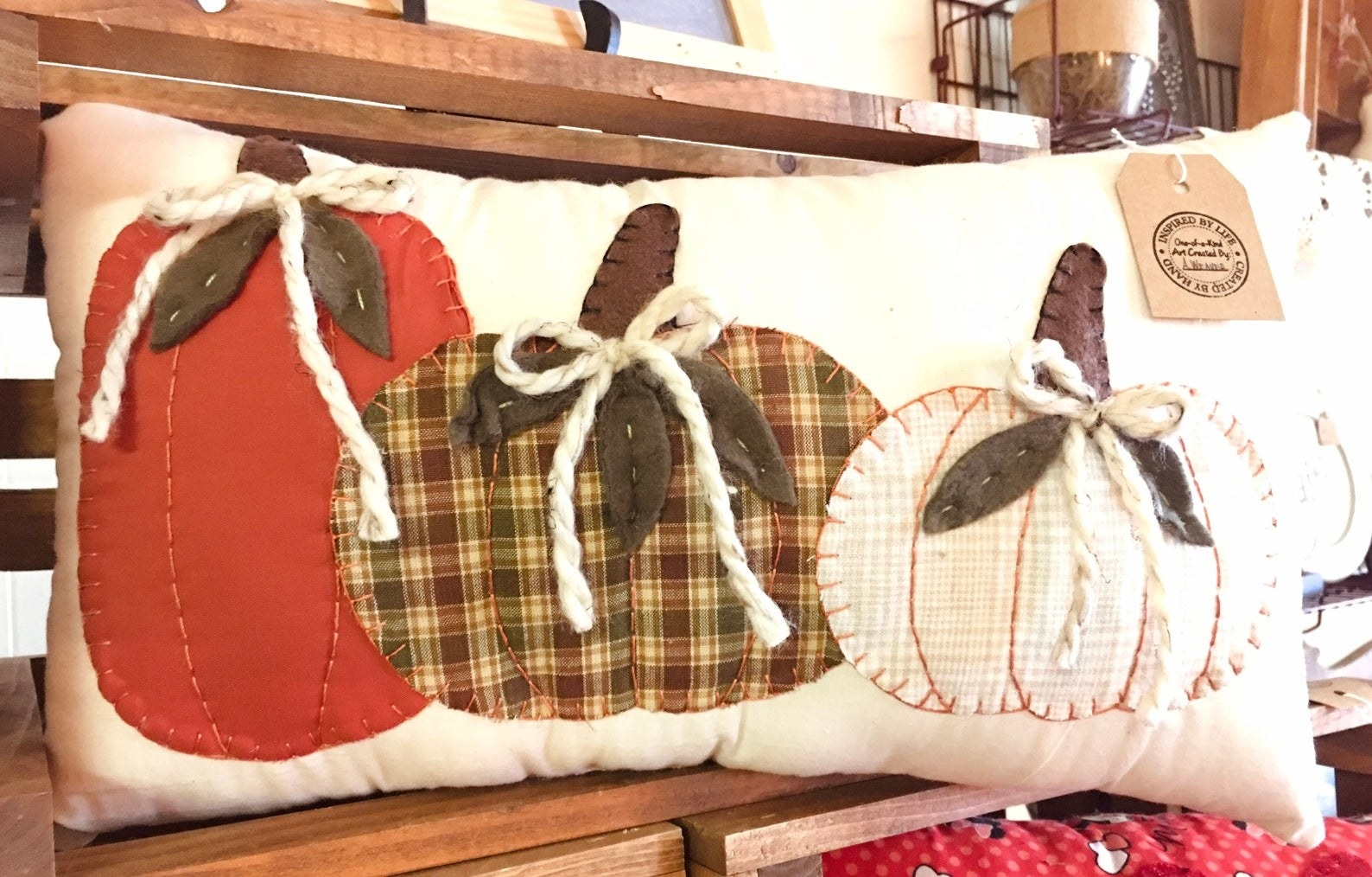 pillow with gourds pattern