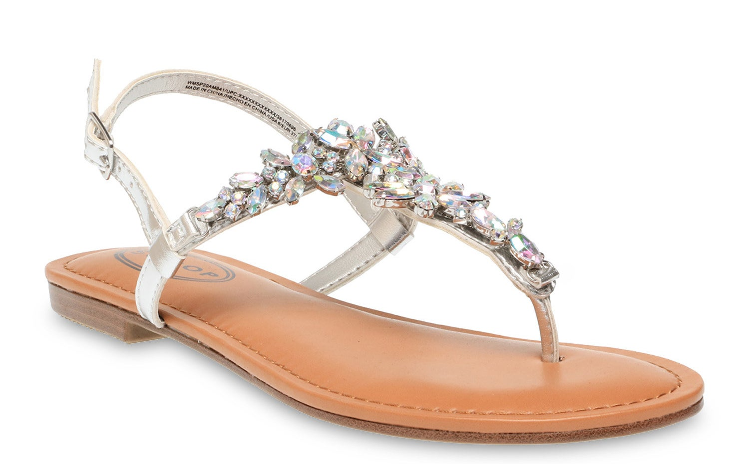The silver jeweled sandal