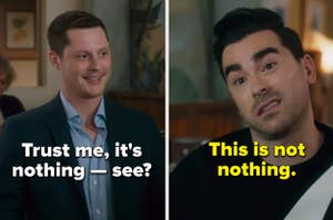 Patrick from Schitt's Creek says his gift is nothing, and David says it's not