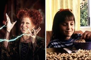 Winnie from Hocus Pocus and Matilda from Matilda