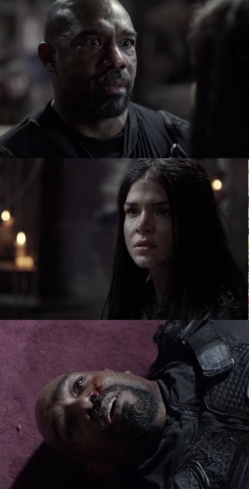 Octavia stabs Pike
