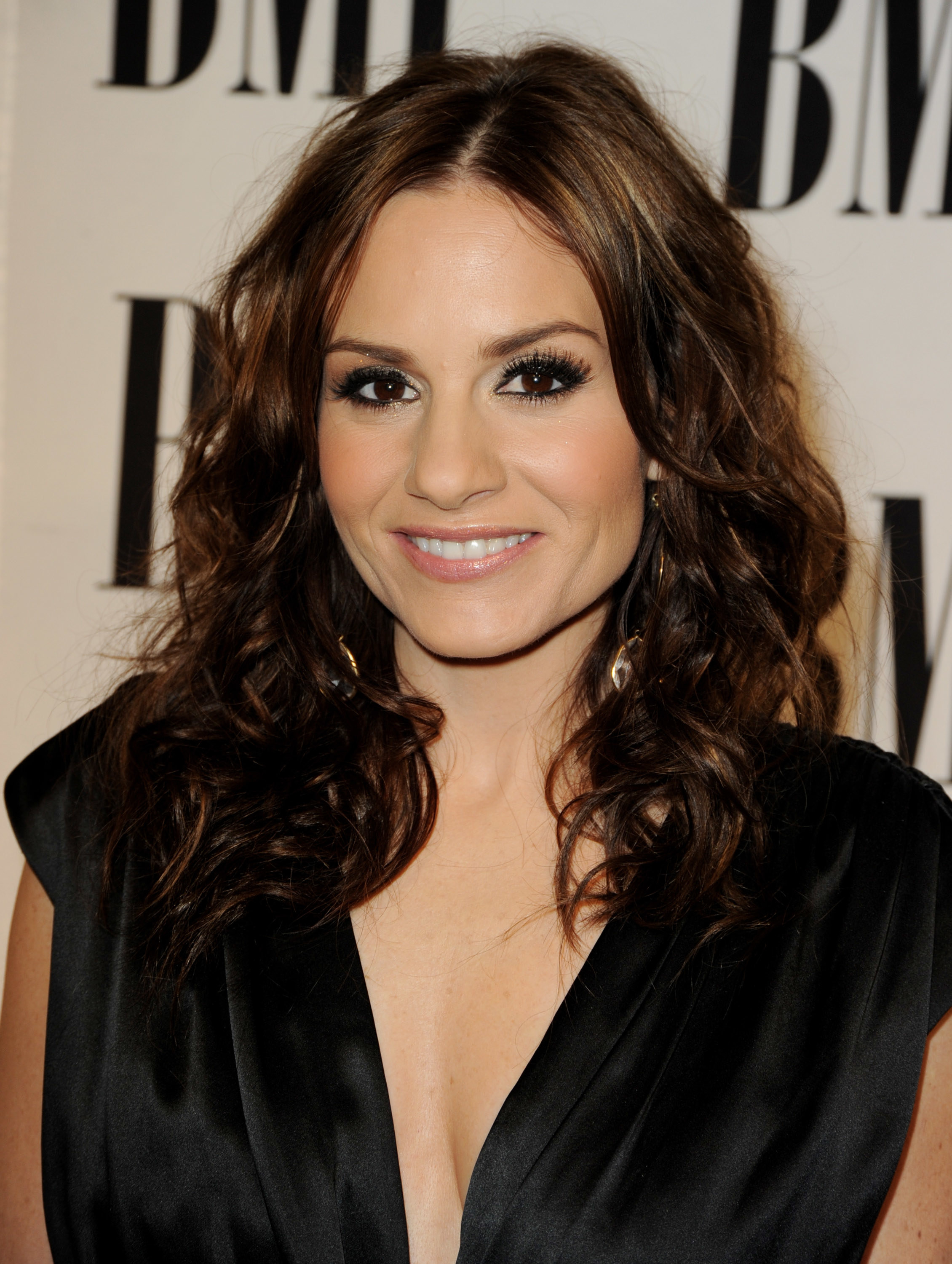A close-up of Kara DioGuardi at an event for BMI
