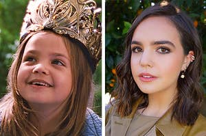 """Side by side of Bailee Madison (May Belle) in """"Bridge To Terabithia"""" and what she looks like now"""