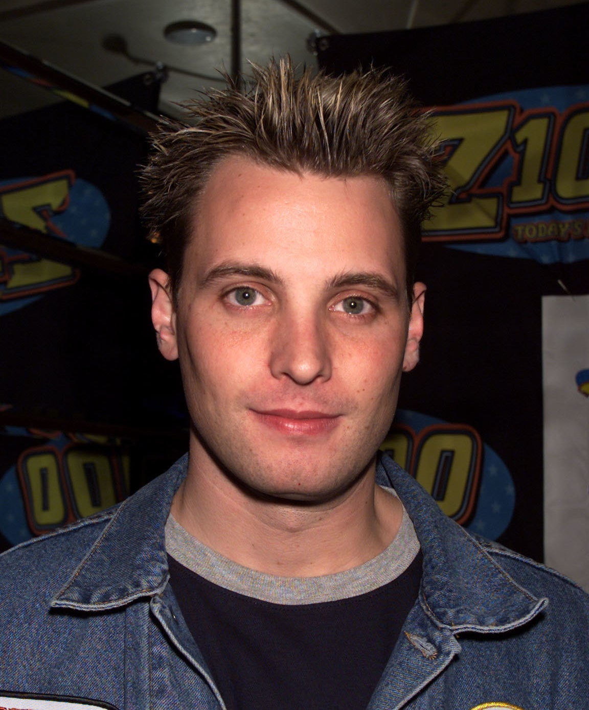 A close-up shot of Rich with frosted tips at Z-100 event in the early 2000s