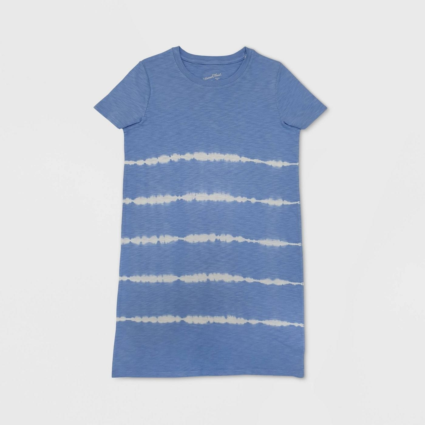 The blue and white tie-dye T-shirt dress