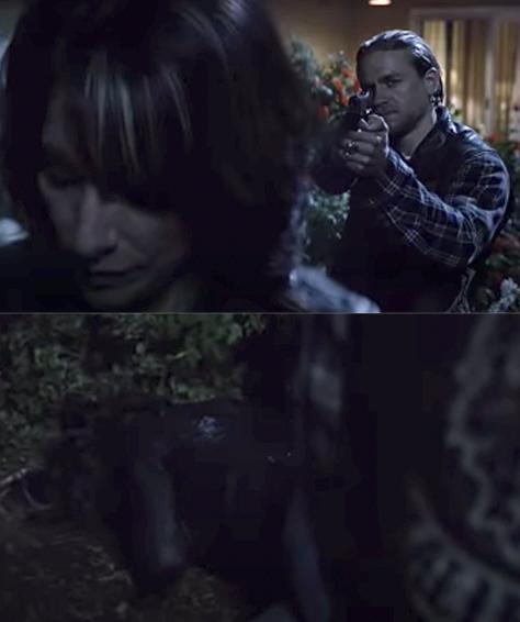 Jax shoots Gemma in the head