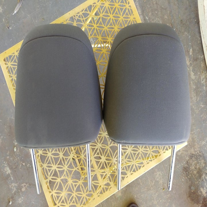 The seat backs both looking cleaner and revealing the true color