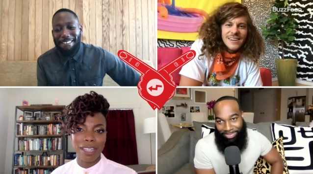 """A screenshot of the """"Woke"""" cast during our Who's Who interview"""