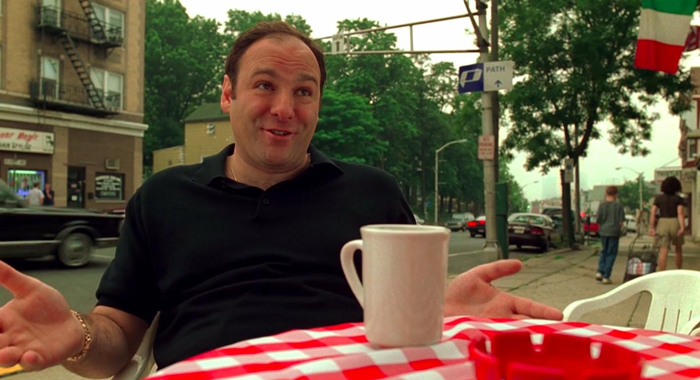 A still of Tony Soprano in The Sopranos