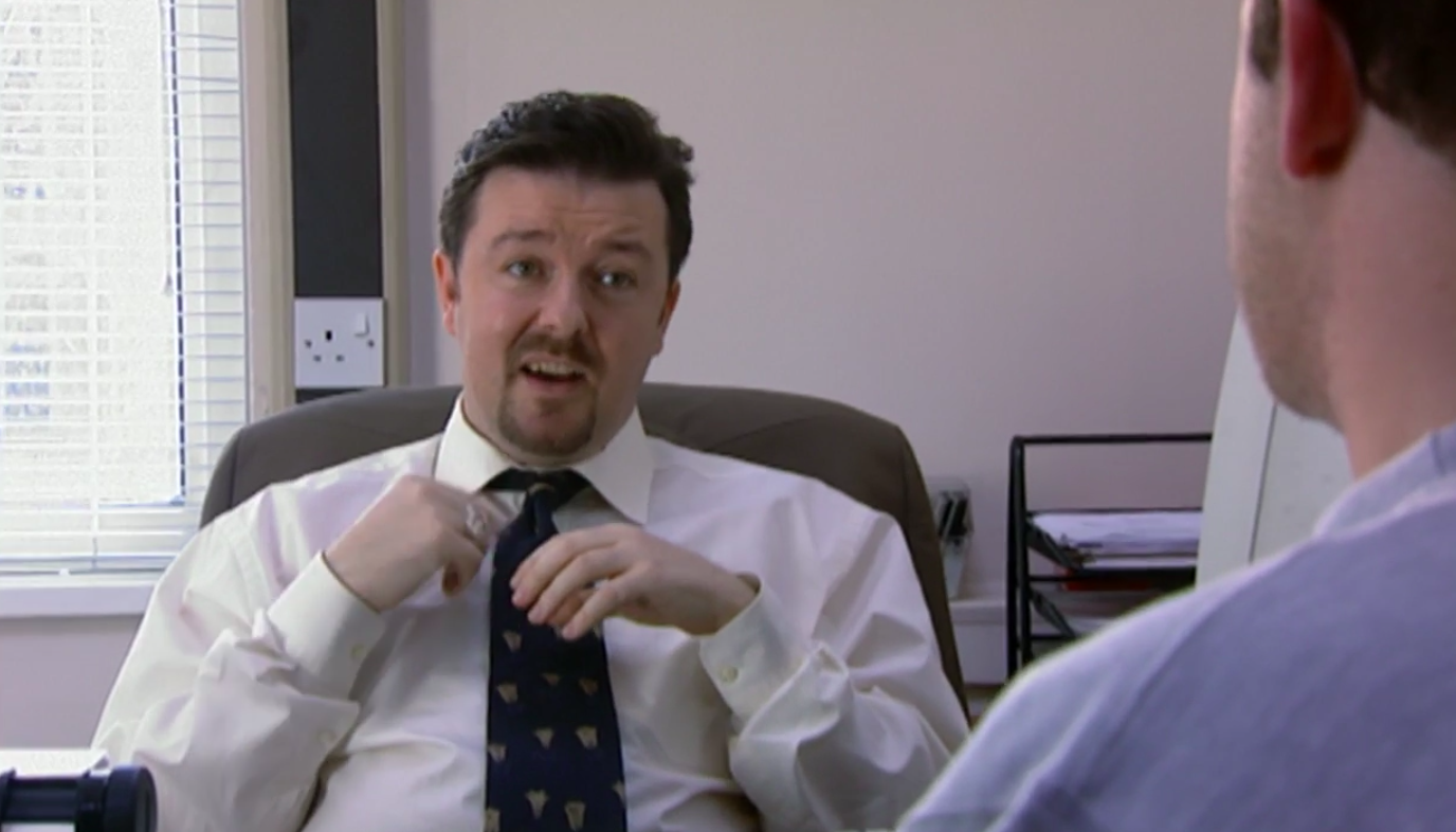 A still of David Brent in The Office (UK)