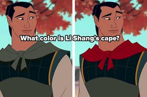 what color is li shang's cape?