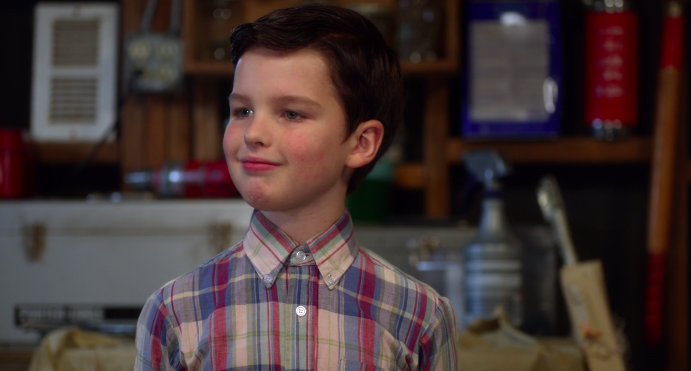 A still of young Sheldon Cooper in Young Sheldon