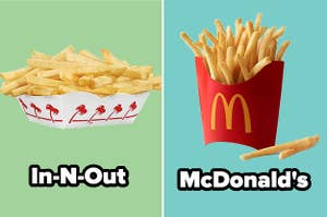 In-N-Out fries vs. McDonald's fries