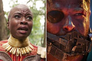 Okoye and Thor crying