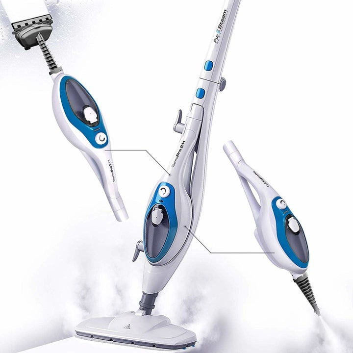 The Steam Mop Cleaner 10-in-1 with Convenient Detachable Handheld Unit